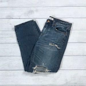 Madewell diy destroyed boy jeans medium wash
